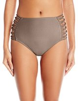 O'Neill Women's Lux Solids High Waist Bikini Bottom