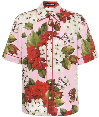 Dolce & Gabbana Floral cotton and silk blouse