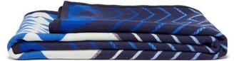 Pendleton Stella Maris Wool Blend-jacquard Blanket - Navy Print