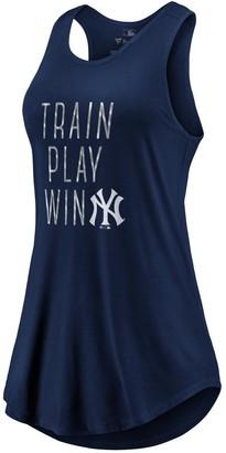 New York Yankees Women's Fanatics Branded Navy Train, Play, Win Tank Top