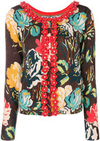 Twin-Set textured floral pattern cardigan