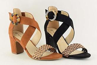 The Divine Factory Women's LYS Ankle Strap Sandals