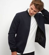 New Look Navy Tailored Bomber Jacket