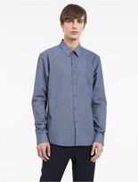 Calvin Klein Platinum Superfine Diagonal Grid Shirt