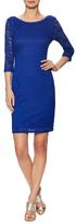 Laundry by Design 3/4 Sleeve V-Back Lace Dress