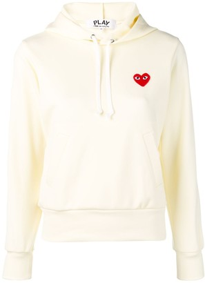 Comme des Garcons Logo Embroidered Hoodie