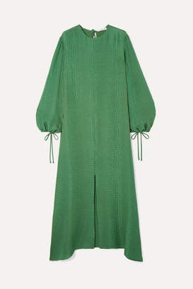 Olivia von Halle Margeaux Silk-jacquard Maxi Dress - Emerald