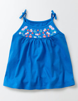 Boden Embroidered Jersey Top