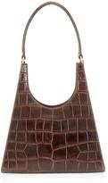 STAUD Rey Crocodile-Embossed Leather Top Handle Bag