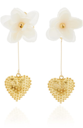 Mallarino Marguerite 24K Gold Vermeil, Silk and Crystal Earrings