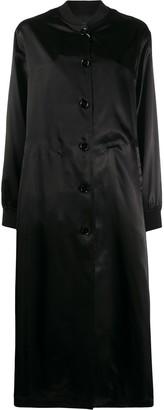 MM6 MAISON MARGIELA Logo Print Single-Breasted Coat