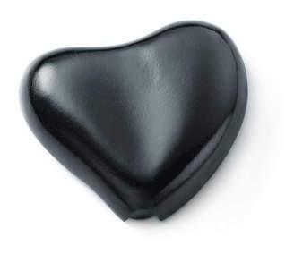 Tiffany & Co. Elsa Peretti heart coin purse in black leather