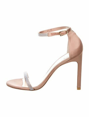 Stuart Weitzman Crystal Embellishments Sandals