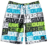 Quiksilver Boys' Graphic Logo Print Stretch Boardshorts - Sizes 24-30