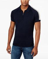 Ben Sherman Men's Cotton Zipper Sweater Polo