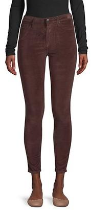 Joe's Jeans Charlie Velvet High-Rise Ankle Skinny Jeans