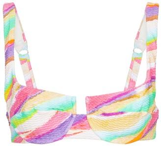 Reina Olga Brigitte printed bikini top