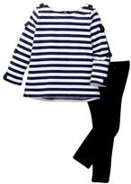 Kate Spade Stripe Top & Legging Set (Baby Girls)