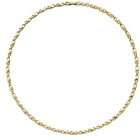 Michael Kors Mercer Small Link Sterling Silver Necklace in 14K Gold-Plated Sterling Silver, 14K Rose Gold-Plated Sterling Silver or Solid Sterling Silver, 16