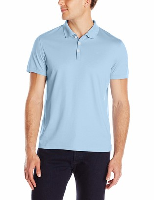 Calvin Klein Men's Tall Liquid Touch Polo Solid with UV-Protection