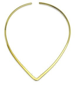 Bling Jewelry Slider Choker V Collar Necklace Flat Gold Plated Add Your Pendant