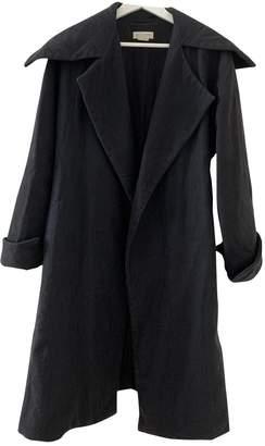 Dries Van Noten Black Cotton Coats