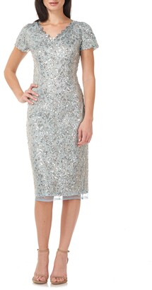 JS Collections Sequin Cocktail Dress