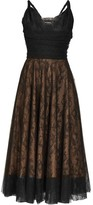 Rochas Pralina Chantilly-lace And Tulle Dress - Womens - Black
