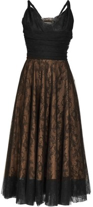Rochas Pralina Chantilly-lace And Tulle Dress - Black