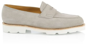 John Lobb Lopez Chunky Suede Penny Loafers