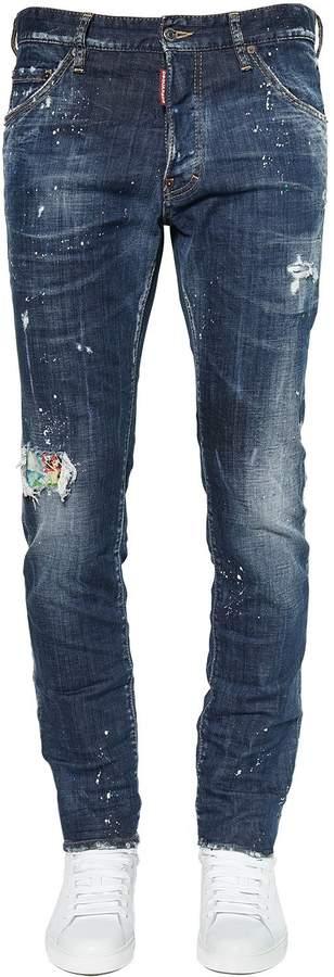 DSQUARED2 16.5cm Patch Cool Guy Cotton Denim Jeans