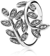 Pandora Ring - Sterling Silver & Cubic Zirconia Sparkling Leaves