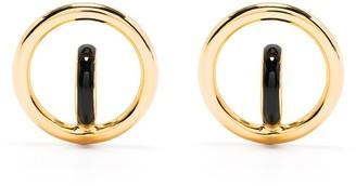 Charlotte Chesnais small Saturn blow earrings