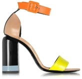 Pierre Hardy Memphis Yellow, Nude & Orange Leather Sandals