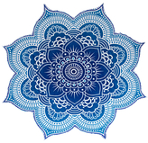 Lotus Flower Round Mandala Tapestry