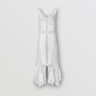 Burberry Chantilly Lace and Silk Satin Slip Dress