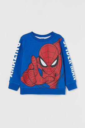 H&M Printed Sweatshirt - Blue