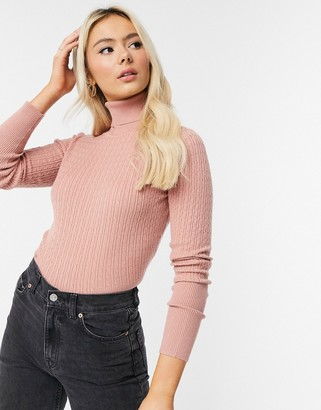 Pimkie fine-knit roll-neck in peach
