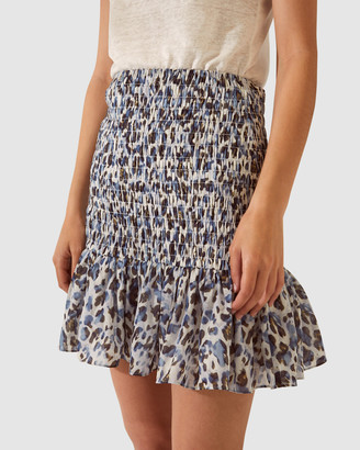 SABA Women's Brown Mini skirts - SB Iris Ruched Skirt - Size One Size, 8 at The Iconic