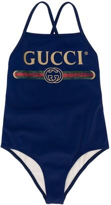 Gucci Kids Logo Swimsuit