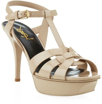 Saint Laurent Patent Tribute Sandals 75