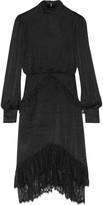 Saloni Isa lace-trimmed fil coupé dress