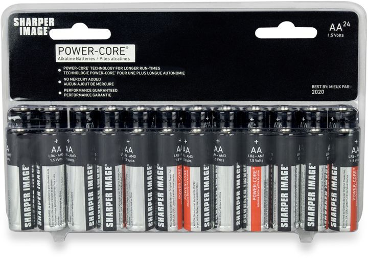 Sharper Image 24-Pack AA Alkaline Batteries