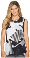 Lucy Multi Collage Graphic Tank Top Women's Sleeveless