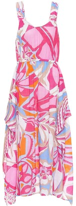 Emilio Pucci Beach Printed cotton midi dress
