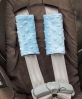 Baby Blue Minky Car Seat Strap Covers