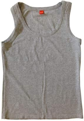 BOSS ORANGE Grey Cotton Top for Women