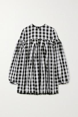 Marques Almeida Gingham Cotton Mini Dress - Black