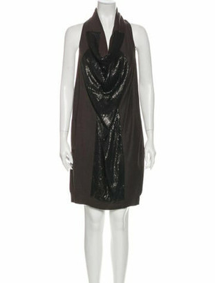 Brunello Cucinelli Virgin Wool Mini Dress Wool