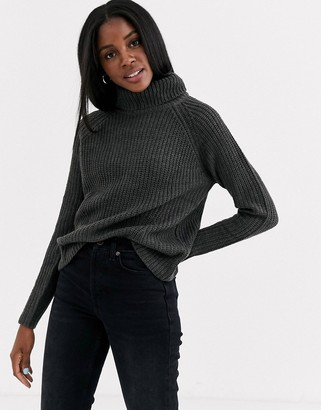 JDY jumper with roll neck in dark grey